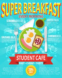 Breakfast Poster Illustration Royalty Free Stock Photos