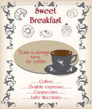 Breakfast poster Royalty Free Stock Image