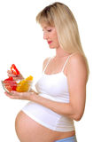 Breakfast of the pregnant woman Stock Photo