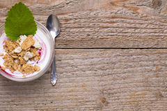 Breakfast prepared for breakfast menü. Breakfast muesli prepared for breakfast men Royalty Free Stock Photos