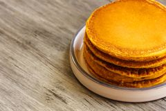 Breakfast - Pumpkin Pancake for autumn,fall and Halloween Stock Images