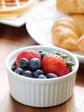 Breakfast with ramkim of berries. Stock Photography