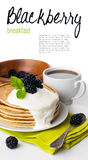 Breakfast , ready template Royalty Free Stock Photos