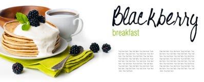 Breakfast , ready template Royalty Free Stock Photos