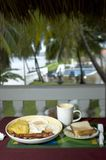 Breakfast at the resort Stock Image