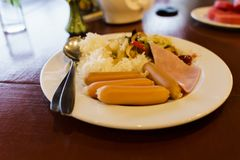 Breakfast at a resort in Chiang Mai. royalty free stock photo