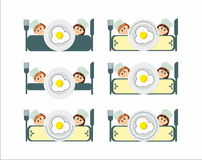 Breakfast restaurant  logo menu Royalty Free Stock Photo
