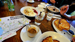 Breakfast and road trip in Melbourne Royalty Free Stock Photography