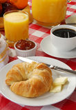 Breakfast roll royalty free stock photos