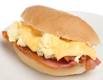 Breakfast Roll with Bacon, Egg & Cheese Stock Photos