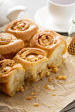 Breakfast rolls with honey and nuts Stock Photo