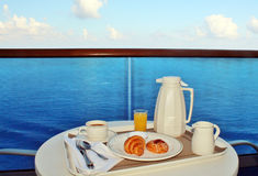 Breakfast by room service Royalty Free Stock Photos