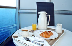 Breakfast by room service Royalty Free Stock Photography