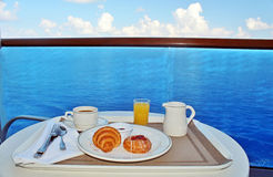 Breakfast by room service Royalty Free Stock Image