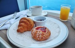 Breakfast by room service Stock Image