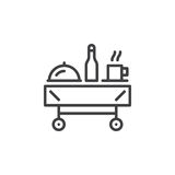 Breakfast room service line icon, outline vector sign, linear pictogram isolated on white Stock Images
