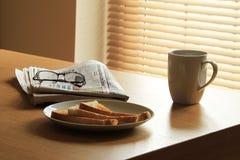 Breakfast routine Royalty Free Stock Photo