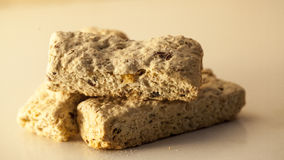 Breakfast rusks. Close up of healthy breakfast rusks Stock Photos