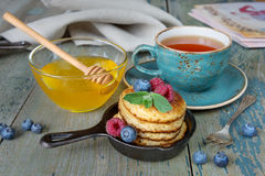 Breakfast  in rustic style Royalty Free Stock Images