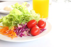 Breakfast and salad on morning Stock Photo
