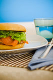 Breakfast salmon bagel Royalty Free Stock Images