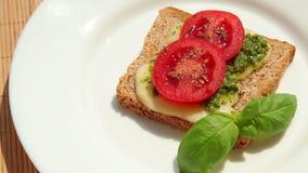 Breakfast sandwich stock video footage