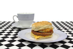 Breakfast Sandwich With Coffee Royalty Free Stock Image