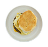 Breakfast Sandwich Isolated On Plate Top Stock Images