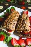 Breakfast sandwich royalty free stock photography