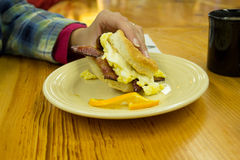 Breakfast Sandwich Royalty Free Stock Photography