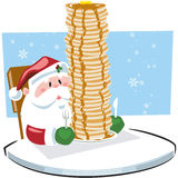 Breakfast with Santa Claus Stock Images