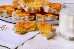 Breakfast in Sardegna. Typical traditional desserts of Sardinia: biscuits royalty free stock photography