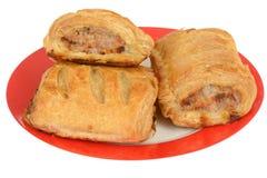 Breakfast Sausage Rolls Stock Photo