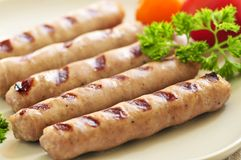 Breakfast sausages Stock Photos
