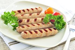 Breakfast sausages Stock Photography