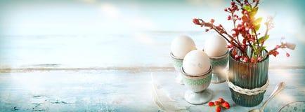 Breakfast Scene With Easter Eggs Stock Image