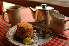 Breakfast scone Royalty Free Stock Images