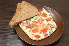 Breakfast - scrambled eggs Royalty Free Stock Image