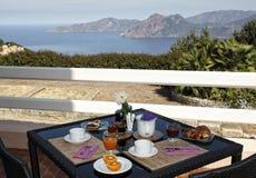 Breakfast on the sea Stock Photos