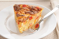 Breakfast seafood quiche Royalty Free Stock Photos