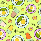Breakfast seamless pattern Royalty Free Stock Image