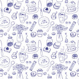 Breakfast seamless pattern Royalty Free Stock Images