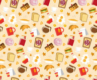 Breakfast Seamless Pattern Royalty Free Stock Photos