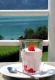 Breakfast on the seashore Stock Images