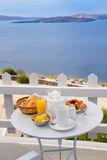 Breakfast by seaside Royalty Free Stock Photography
