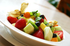 Breakfast series - Fresh fruit bowl Stock Photo
