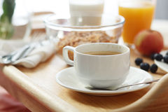 Breakfast served in bed Stock Photography