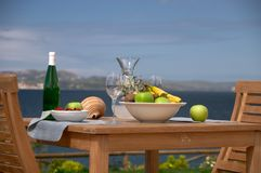 Breakfast served in Cephalonia Royalty Free Stock Photo