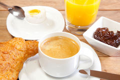Breakfast served on a tray Royalty Free Stock Photos