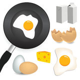 Breakfast set. Vector collection of breakfast elements Royalty Free Stock Photo